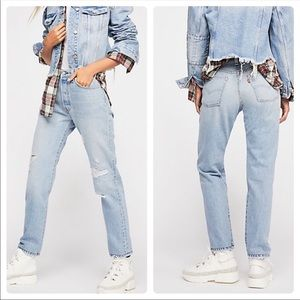 Levi's premium 501 women's original blue jeans